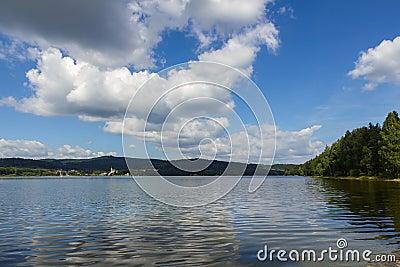 Lipno lake in Czech Republic.