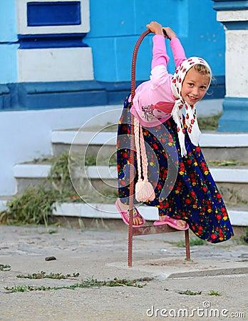 Lipovan girl Editorial Stock Image