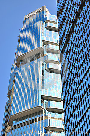 Lippo Center building in Hongkong Editorial Stock Image