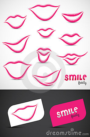 Free Lips And Smiles Collection Stock Image - 20925131