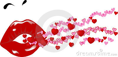 Lips and hearts
