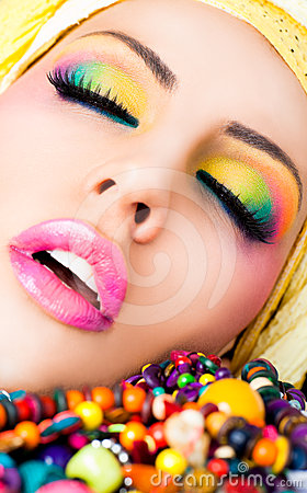 Lips lipstick make-up colourful