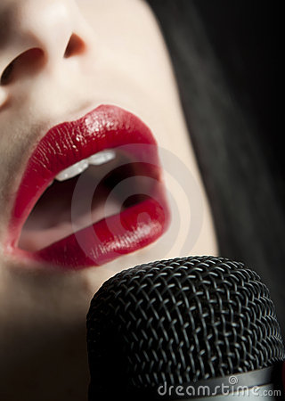 Lips and microphone