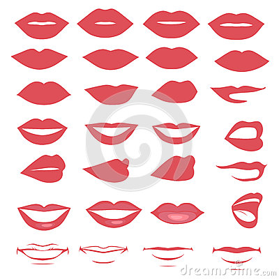 lips and mouth Vector Illustration