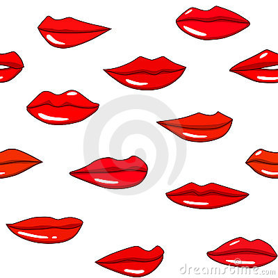 Free Lips Pattern Royalty Free Stock Images - 18151649