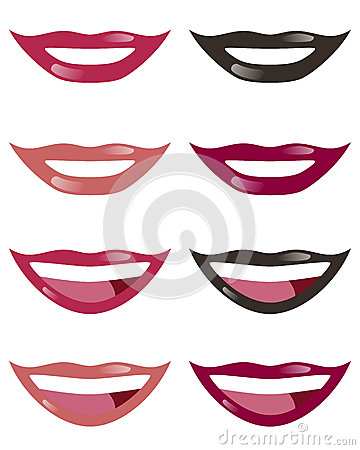 Lips of Woman Set