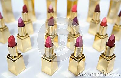 Lipstick color samples