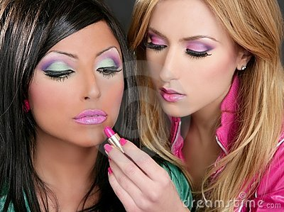 Lipstick fashion girls barbie doll retro
