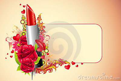 Lipstick with Flowers