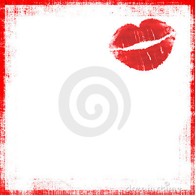 Lipstick Kiss Grunge Royalty Free Stock Image Image 5304256