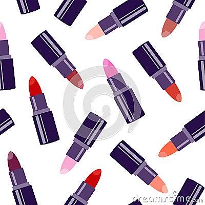 Free Lipstick Seamless Pattern Royalty Free Stock Images - 145197759
