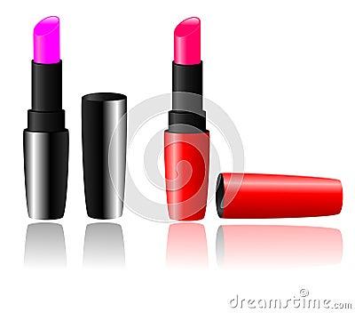 Lipstick vector set
