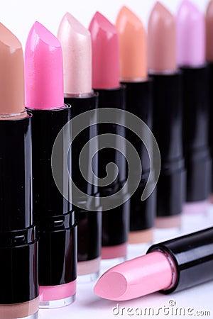 Lipsticks closeup