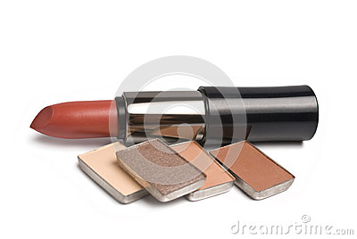 Lipsticks and eye-shadows