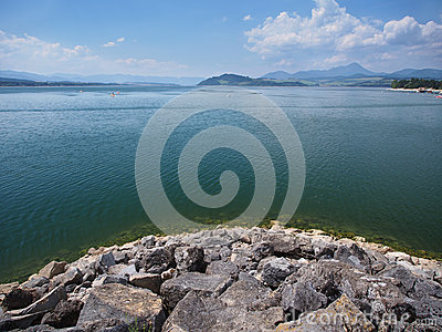 Liptovska Mara lake in summer