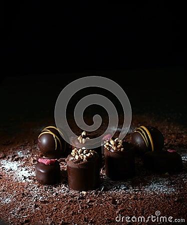 Free Liqueur Chocolates II Royalty Free Stock Photo - 48536315
