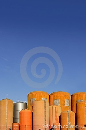 Liquid cylinder industry container