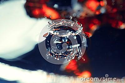 Liquid drop falling