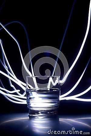 Liquid in a glass