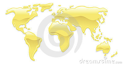Liquid gold world map