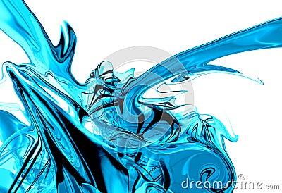Liquid ice splash graphic