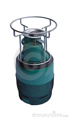 Liquid petroleum gas tank isolated white bacdgroun