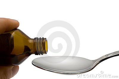 Liquid pour in spoon