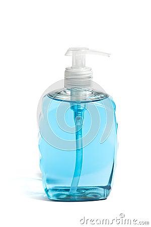Liquid Soap in Blue Bottle