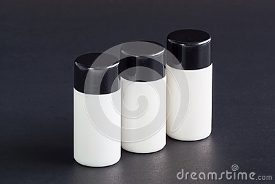 Liquid soap bottle for reuse.