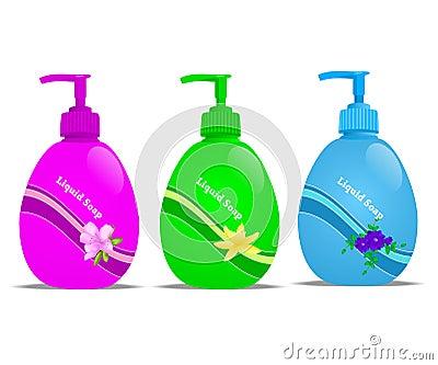 Liquid soap, cdr vector
