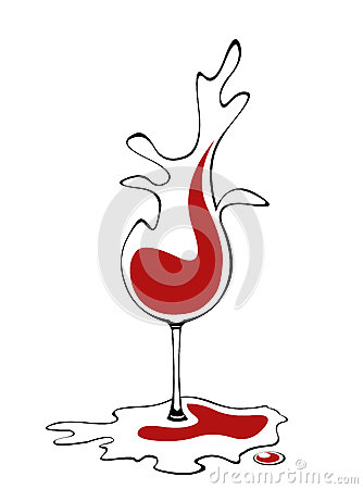 Liquid wine glass