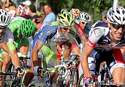 Liquigas Cannond Italian cyclist Cristiano Salerno Editorial Stock Image