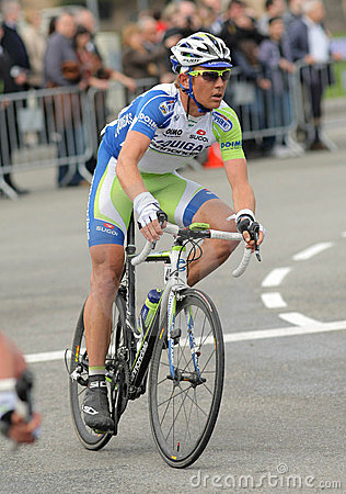 Liquigas Cannondale cyclist Cameron Wurf Editorial Stock Photo