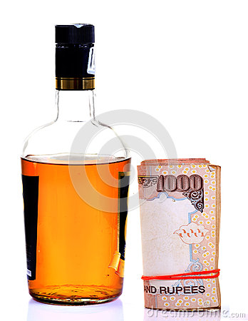 Liquor and money