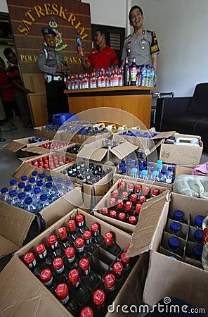 Liquor operation Editorial Image