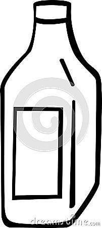 Liquor or wine bottle vector illustration