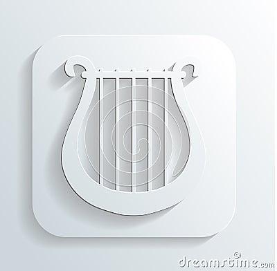Lira icon vector