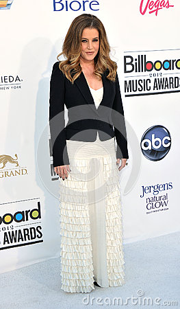 Lisa Marie Presley arrives at the 2012 Billboard Awards Editorial Stock Image