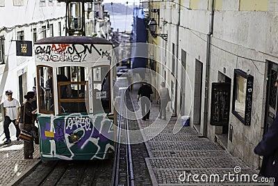 Lisboa s tram Editorial Photo
