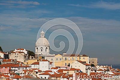 Lisboa skyline with Sao Vicente de Fora