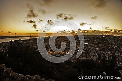 Lisboa in sunset