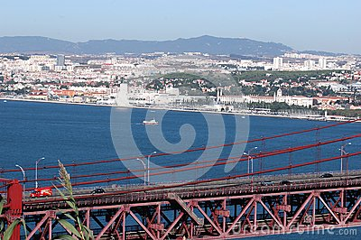 Lisbon and the 25th April Bridge