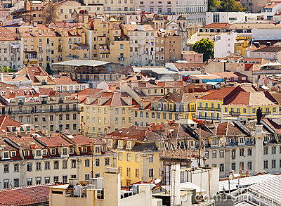 Lisbon,Baixa district