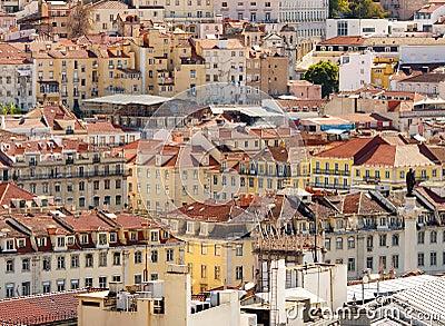Lisbon,Baixa district