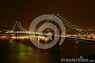 Lisbon bridge by night