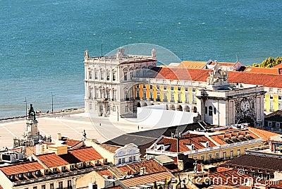 Lisbon central square Praca de Comercio, Portugal