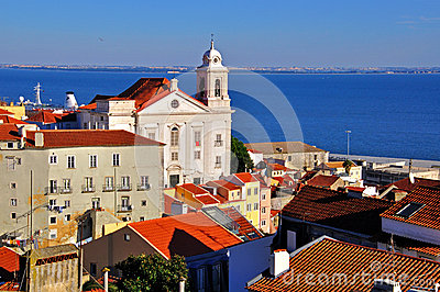 Lisbon church and Alfama