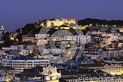 Lisbon city by night