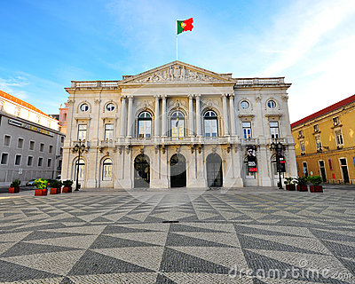 Lisbon cityhall Editorial Photo