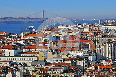 Lisbon cityscape Editorial Stock Photo